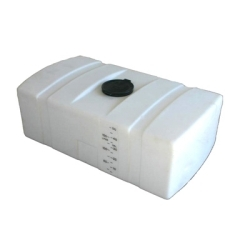 200 Gallon White Low Profile Rectangular Tank