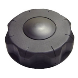 "3-1/2"" Un-vented Black Nylon Cap"