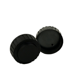 "1-5/8"" Thread Vented Black Cap"