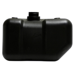 "2.5 Gallon Black Multi Purpose Tank - 12.75"" L x 7.86 W x 7.75"" Hgt. (2.25"" Neck)"