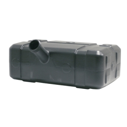 "5 Gallon Black Low Profile Tank w/Center 2.25"" Neck"