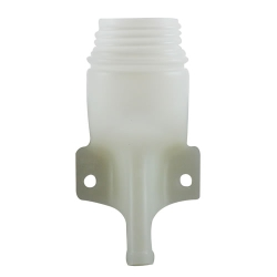 "2-1/4"" HDPE Remote Filler Spout Natural with 5/8"" Outlet"