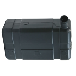 "5 Gallon Low  Profile CARB/EPA Black Tank with 2.25"" End Neck - ID 1.75"" x 18.75"" L x 6.87"" W x 11""(+3.8"" Neck) H"