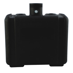 "6 Gallon CARB/EPA Black Tank with 3.5"" Neck - ID 2.97"" x 15"" L x 8.5"" W x 12.25""H"