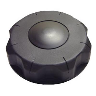 """3-1/2"""" Unvented Black Nylon Cap"""