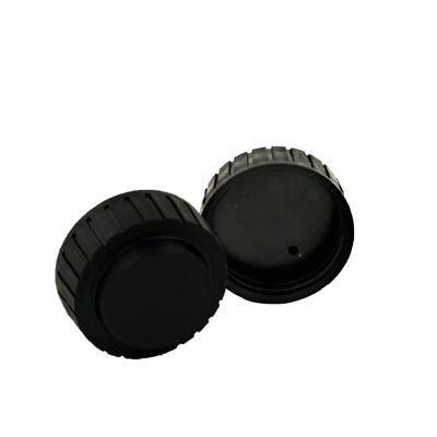 """1-5/8"""" Thread Vented Black Cap"""