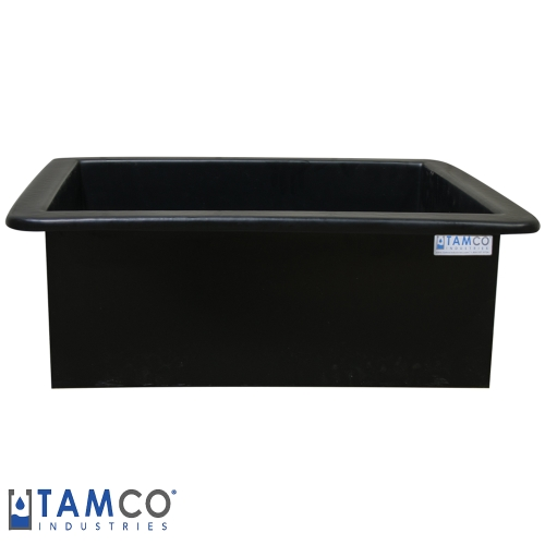 "50 Gallon Heavy Duty Black PE Tank - 30"" L x 24"" W x 18"" H (Can Ship UPS)"
