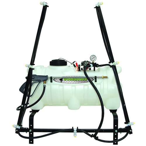 25 Gallon ATV Sprayer with Wand, Boom with 7 Nozzles & 2.2 GPM Pump