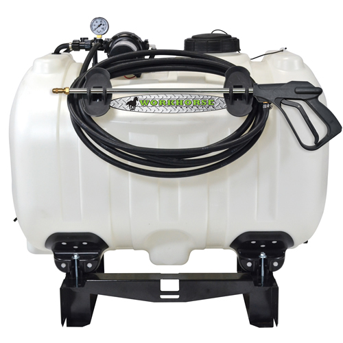 60 Gallon Utility Skid Mounted Sprayer with Wand & 5.0 GPM Pump