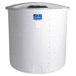 "2010 Gallon Open Top Tank with Bolt On Cover - 64"" Dia. x 158"" H"