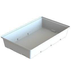 "100 Gallon Open Top Rectangular Tank - 43"" L x 43"" W x 17"" H *"