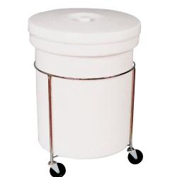 "26 Gallon Polyethylene Round Mobile Container 20-3/4""Dia. x 29-3/4""H"