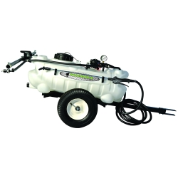15 Gallon Trailer Sprayer with Wand, 2 Nozzle Boom & 2.2 GPM Pump