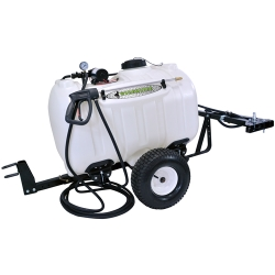 60 Gallon Trailer Sprayer with Wand, 7 Nozzle Boom & 2.2 GPM Pump