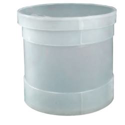 "5 Gallon Polypropylene Cylindrical Tank - 12"" Dia. x 12"" High"