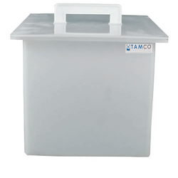 "44 Gallon Polypropylene High Temperature Tank - 24"" L x 24"" W x 18"" Hgt."