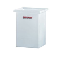 "6 Gallon Molded Polyethylene Tank with Cover- 14"" L x 10"" W x 10"" Hgt."
