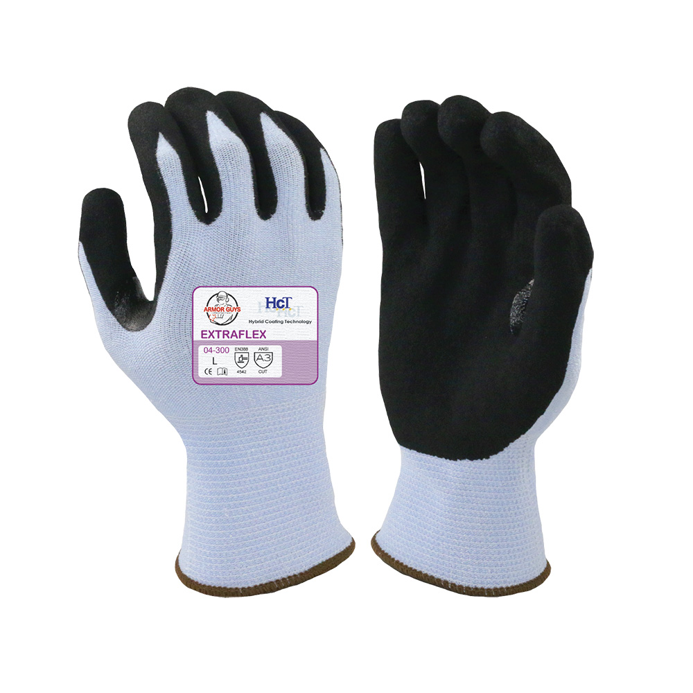 Small Extraflex Blue Cut Resistant Work Gloves