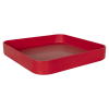 "11-1/2"" L x 11-1/2"" W x 1-1/4"" Hgt. Red Tamco® Curved Corner Tray"