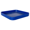 "11-1/2"" L x 11-1/2"" W x 1-1/4"" Hgt. Blue Tamco® Curved Corner Tray"