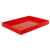"""16-5/8"""" L x 12-3/8"""" W x 1-1/2"""" Hgt. Red Tamco® Tray"""