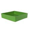 "12"" L x 12"" W x 3"" Hgt. Green Tamco® Tray"