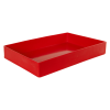 """18"""" L x 12"""" W x 3"""" Hgt. Red Tamco® Tray"""