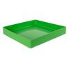 "18"" L x 18"" W x 3"" Green Tamco® Tray"
