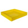 "18"" L x 18"" W x 3"" Yellow Tamco® Tray"