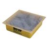 Yellow 1 Gallon HDPE Drip Pan with Polypropylene Absorbents