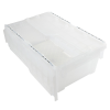 ".7 Cu. Ft. FliPak® Clear Polypropylene Shipping Container - 19-7/10"" L x 11-4/5"" W x 7-3/10"" H"
