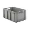 "24"" L x 16"" W x 12-1/2"" Hgt. Gray Container w/Solid Sides & Base"