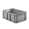 "24"" L x 16"" W x 16-1/2"" Hgt. Gray  Container w/Solid Sides & Base"