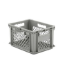 "16"" L x 12"" W x 8-1/2"" Hgt. Gray Container w/Mesh Sides & Base"