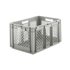 "24"" L x 16"" W x 12-1/2"" Hgt. Gray  Container w/Mesh Sides & Base"