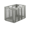 "24"" L x 16"" W x 16-1/2"" Hgt. Gray Container w/Mesh Sides & Base"