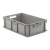 "24"" L x 16"" W x 7"" Hgt. Gray Container w/Solid Sides & Base"