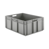 "32"" L x 24"" W x 12-1/2"" Hgt. Gray Container w/Solid Sides & Base"
