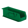 "14-3/4"" L x 5-1/2"" W x 5"" Hgt. Green Hang & Stack Bin"