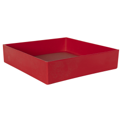 "12"" L x 12"" W x 3"" Hgt. Red Tamco® Tray"