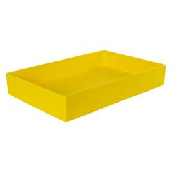 "18"" L x 12"" W x 3"" Hgt. Yellow Tamco® Tray"