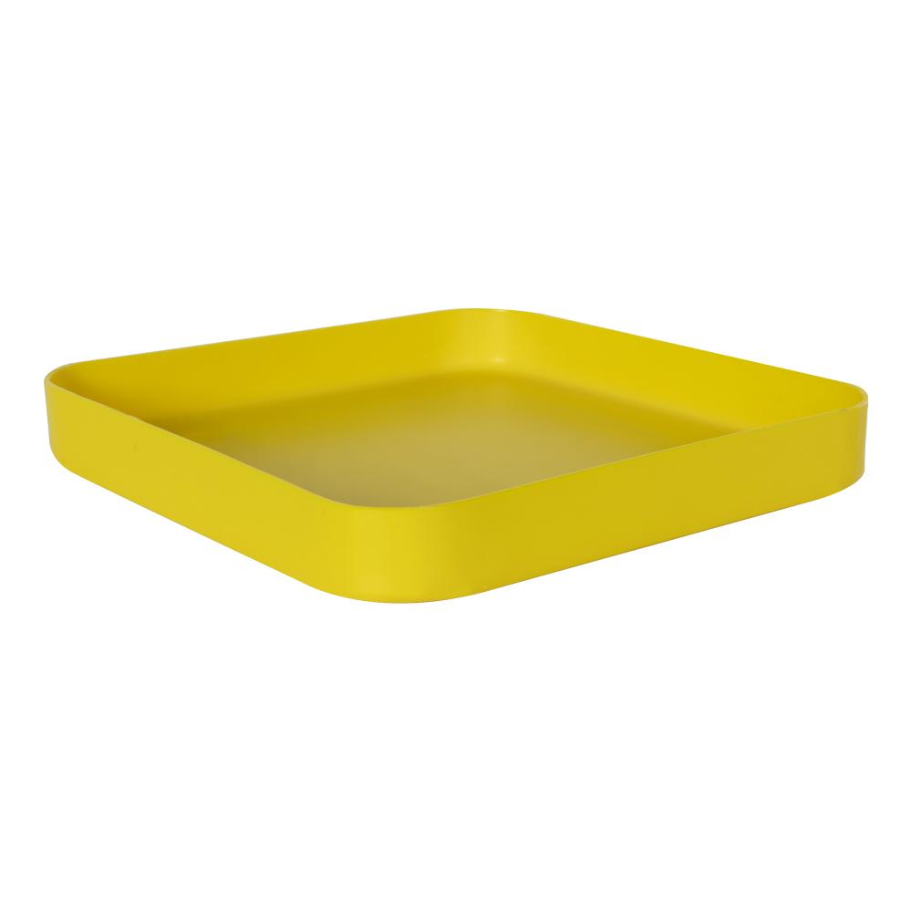 "11-1/2"" L x 11-1/2"" W x 1-1/4"" Hgt. Yellow Tamco® Tray"