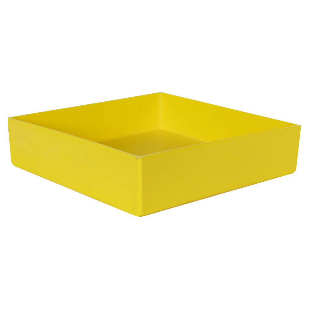 "12"" L x 12"" W x 3"" Hgt. Yellow Tamco® Tray"