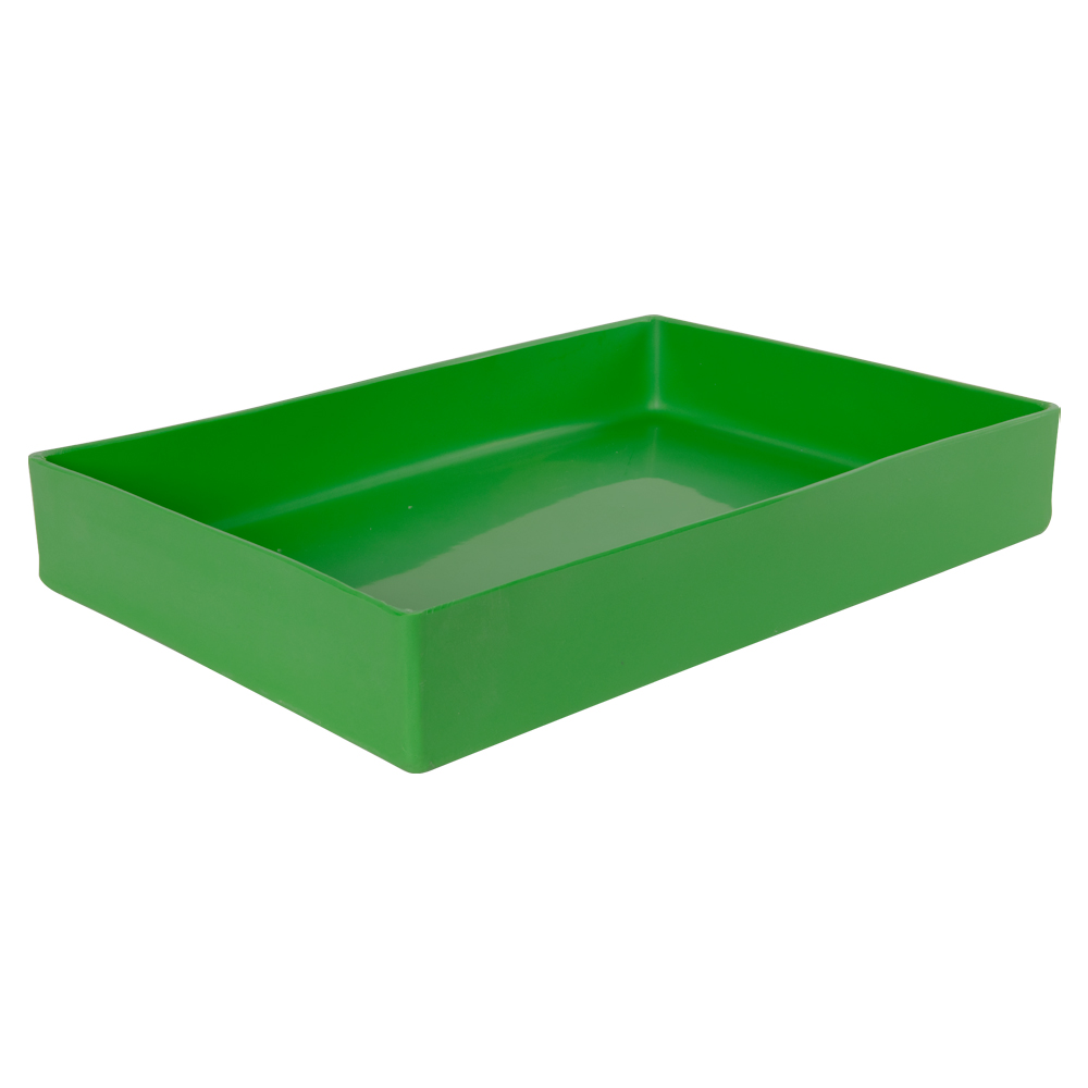 "18"" L x 12"" W x 3"" Hgt. Green Tamco® Tray"