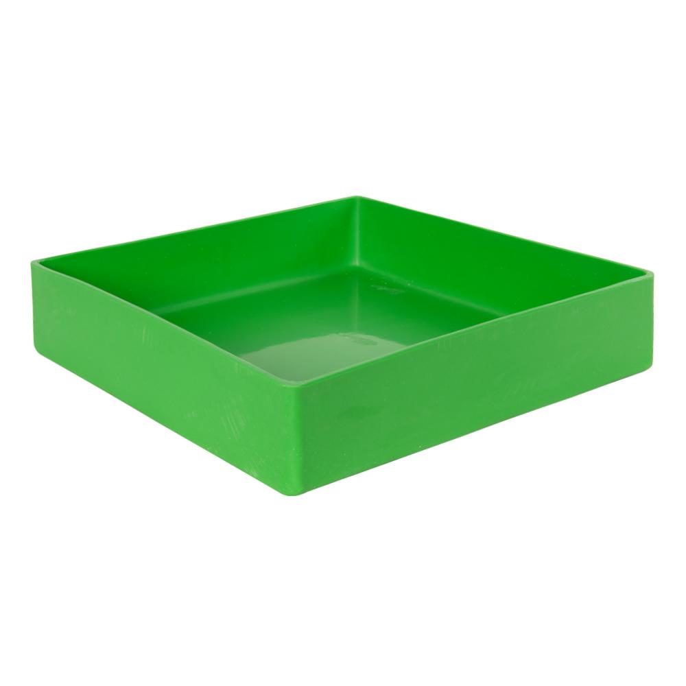"14"" L x 14"" W x 3"" Green Tamco® Tray"
