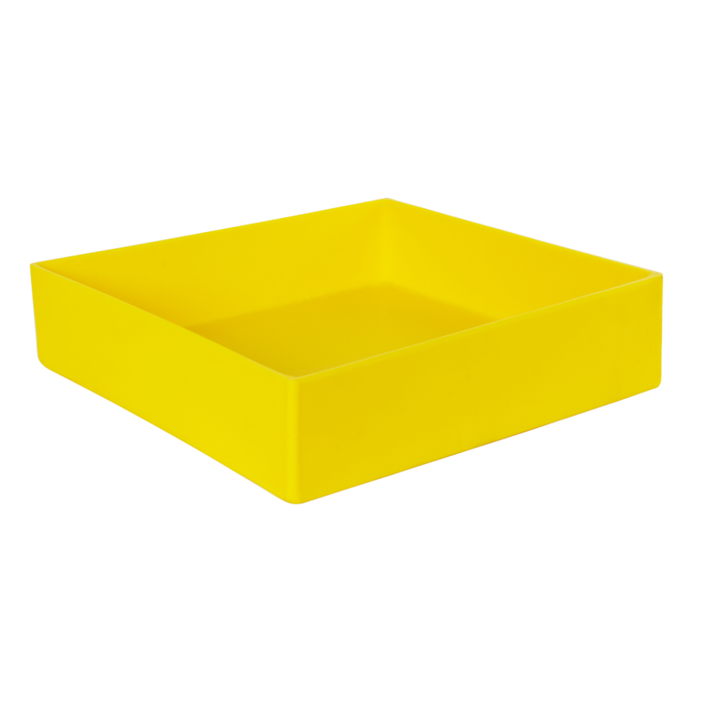 "14"" L x 14"" W x 3"" Yellow Tamco® Tray"