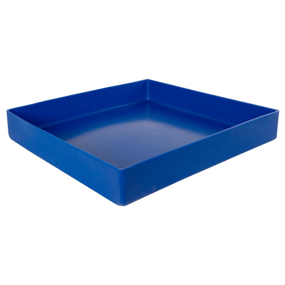 "18"" L x 18"" W x 3"" Blue Tamco® Tray"
