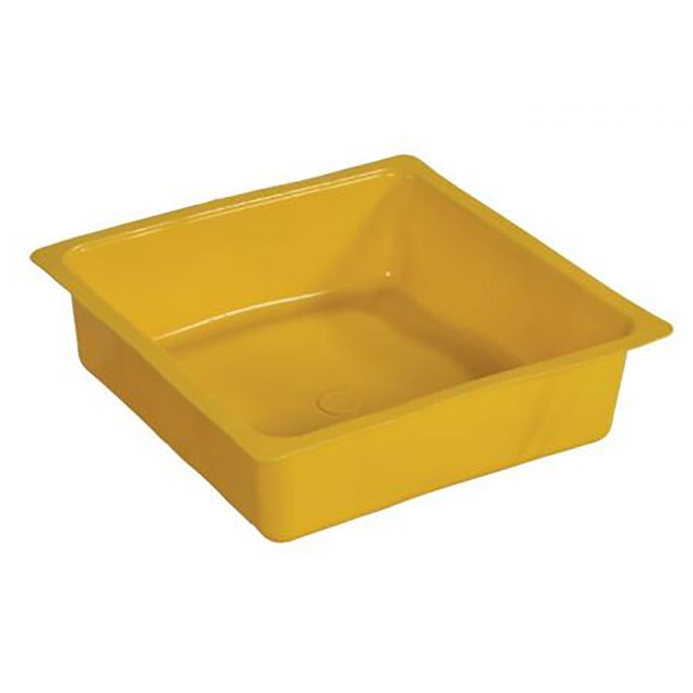 Yellow 1 Gallon HDPE Drip Pan