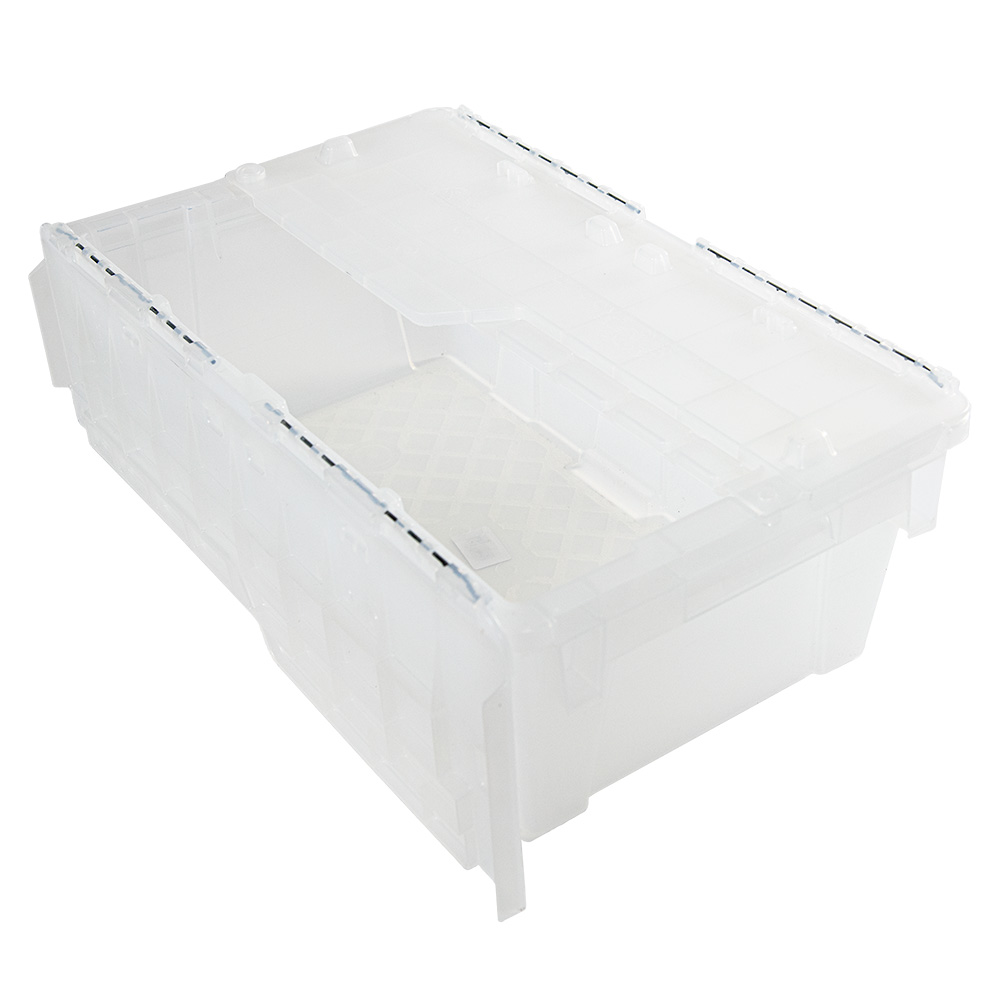 """.7 Cu. Ft. FliPak® Clear Polypropylene Shipping Container - 19-7/10"""" L x 11-4/5"""" W x 7-3/10"""" H"""