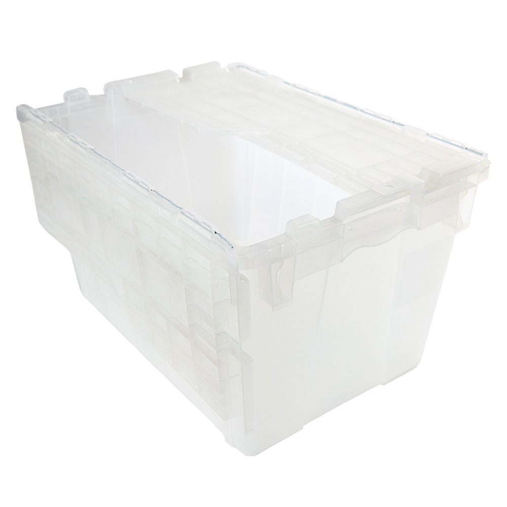 "1.8 Cu. Ft. FliPak® Clear Polypropylene Shipping Container - 21-4/5"" L x 15-1/5"" W x 12-9/10"" H"